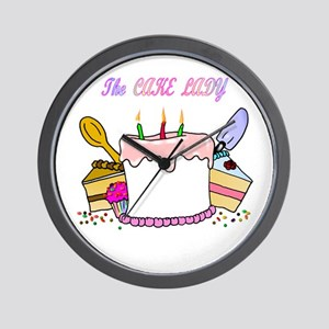 The Cake lady Wall Clock