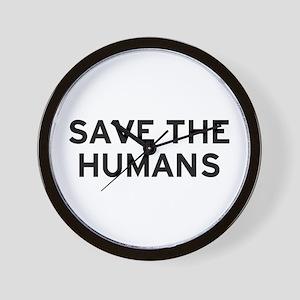 Save Humans Wall Clock