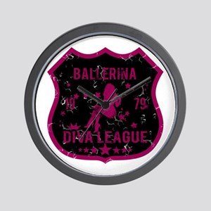 Ballerina Diva League Wall Clock