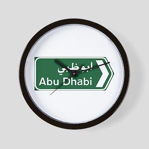 Abu Dhabi, United Arab Emirates Wall Clock