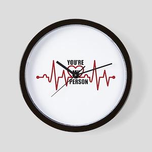 Grey's Anatomy My Person Wall Clock