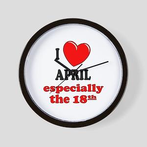 April 18th Wall Clock