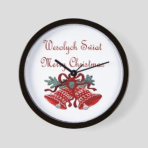 Polish Christmas Wall Clock