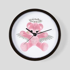 PINK ANGEL BEAR Wall Clock