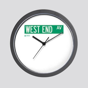 West End Avenue in NY Wall Clock