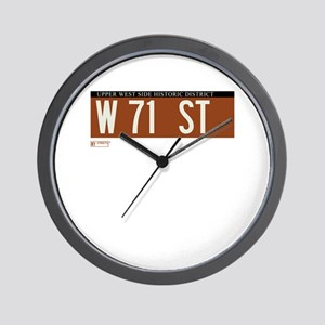 71st Street in NY Wall Clock