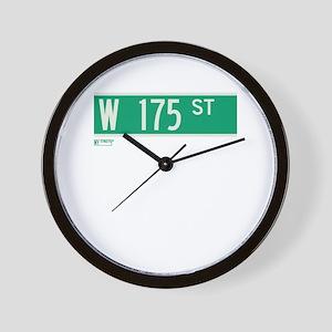 175th Street in NY Wall Clock
