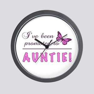 Promoted To Auntie Wall Clock