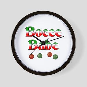 Bocce Babe Wall Clock