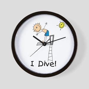 Boy I Dive Wall Clock