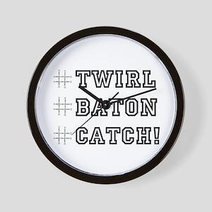 Hashtag Twirl Wall Clock