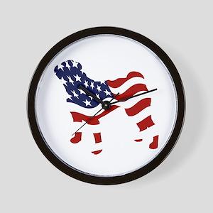 Patriotic Pug - Wall Clock