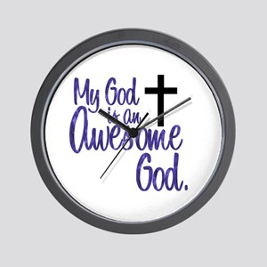 Awesome God Wall Clock