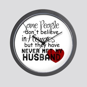Husband hero Wall Clock