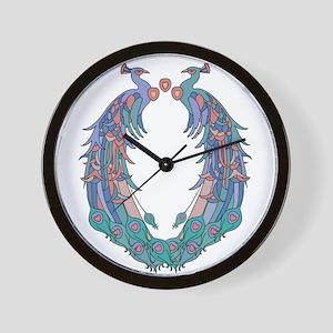 Peacocks Pride Wall Clock