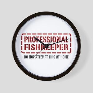 Professional Fishkeeper Wall Clock
