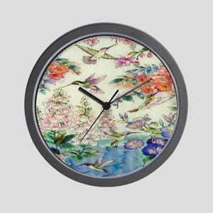 HUMMINGBIRD_STAINED_GLASS_8 BY 10 Wall Clock