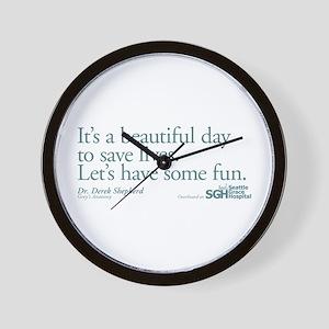 Save some lives. - Grey's Anatomy Wall Clock