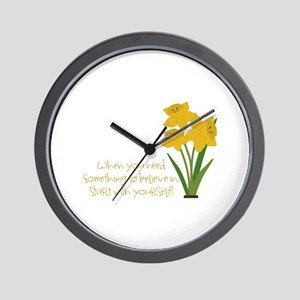 Something To Believe Wall Clock