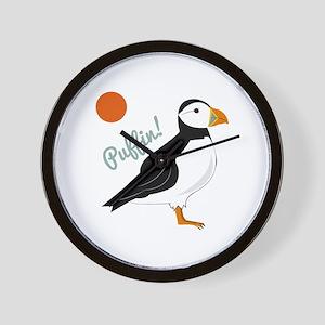 Puffin! Bird Wall Clock