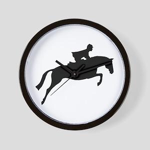 h/j horse & rider Wall Clock