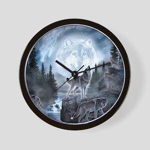 spirt of the wolf Wall Clock