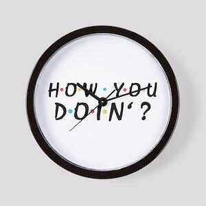 'How You Doin'?' Wall Clock