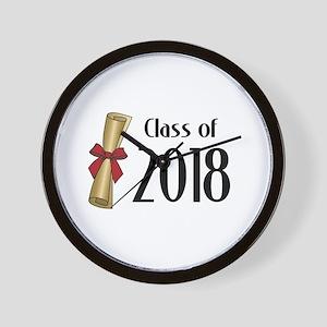 Class of 2018 Diploma Wall Clock
