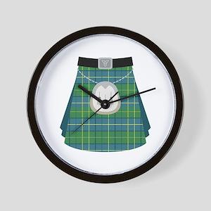 Scottish Kilt Wall Clock