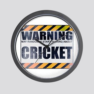 Warning: Cricket Wall Clock