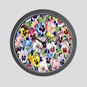 Pansies Wall Clock