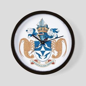 Tristan Da Cunha Coat of Arms Wall Clock