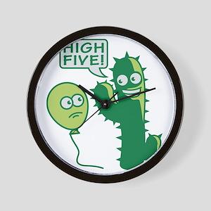 cactus_high_five Wall Clock