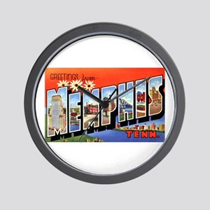 Memphis Tennessee Greetings Wall Clock