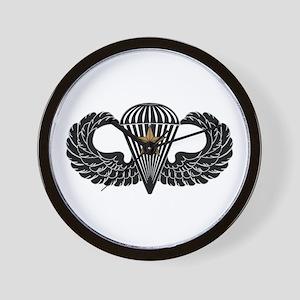Combat Parachutist 1st -- B-W Wall Clock