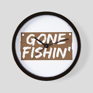 Gone Fishin' (Fishing) Wall Clock