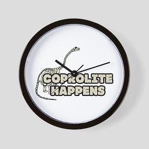 COPROLITE HAPPENS Wall Clock