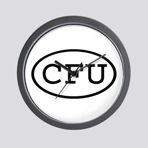 CFU Oval Wall Clock
