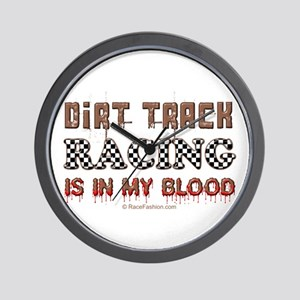 Dirt Track Racing Blood Wall Clock