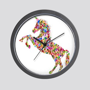 Prismatic Rainbow Unicorn Wall Clock