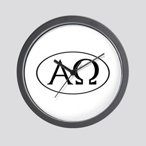 Alpha and Omega Wall Clock