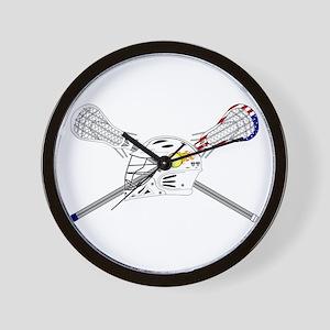 Lacrosse Helmet Wall Clock