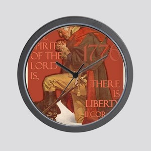 Washington There is Liberty Wall Clock