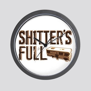 Shitter's Full Wall Clock