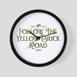 Follow the Yellow Brick Road Wall Clock