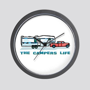 The campers life Wall Clock