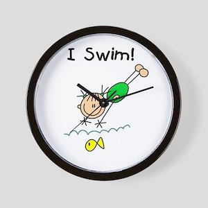 Girl I Swim Wall Clock