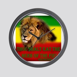 Rastafarian Lion Wall Clock