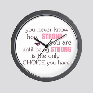 Never Know How Strong Wall Clock