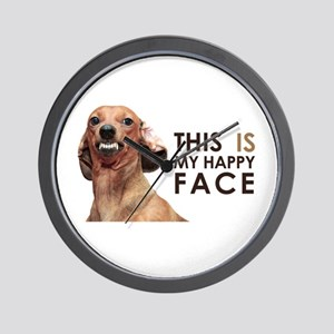 Happy Face Dachshund Wall Clock
